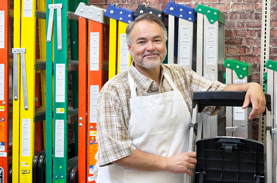 Small business owner in his hardware store